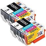 Starink Kompatibel für HP 920XL 920 XL Multipack Druckerpatronen für HP Officejet 6000 6000A 6500 6500A 7000 7500 7500A Patronen Drucker (2 Schwarz 2 Cyan 2 Magenta 2 Gelb) 8 Pack