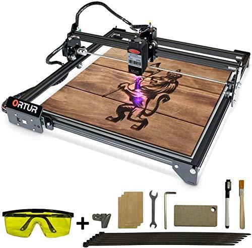 ORTUR Laser Master 2, Lasergravierer-CNC, Lasergravur-Schneidemaschine, DIY-Lasermarkierung für Metall mit 32-Bit-Motherboard LaserGRBL (LightBurn), 400 x 430 mm große Gravurfläche (20W)