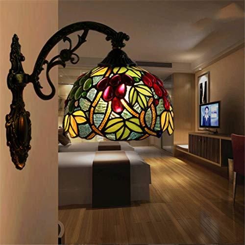 Lámpara de pared Restauración europea Bar Restaurant Cafe Inn Escalera Corredor Corredor Manchado Lámpara de pared Luz de baño B
