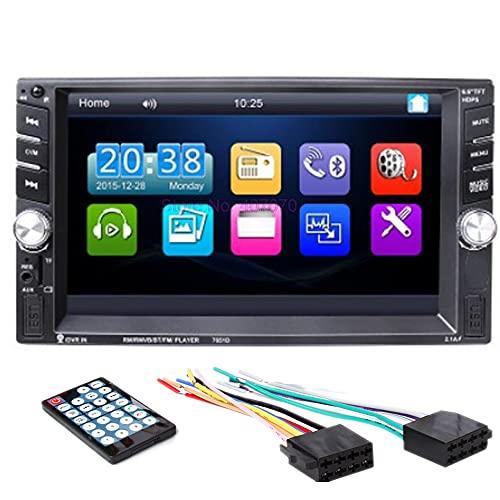 PolarLander Autoradio Bluetooth,Radio Voiture, Radio Mains Libres Stéréo,Lecteur MP3, Mirrorlink pour téléphone Android, 12V 2DIN FM MP3 TF USB AUX in Multimédia Bluetooth Player avec télécommande
