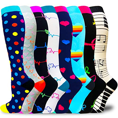 Compression Socks for Women & Men Circulation-Compression Socks 20-57 Mmhg-Best for Running,Medical,Nurse,Travel,Cycling