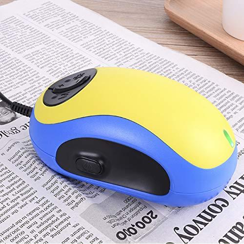 BANESE Elektronische Sehbehinderung Lesehilfe - Tragbare Maus Digitale Lupe Mit 10 Farbmodi Und Image Freeze Für Sehbehinderte, Elterliches Geschenk,Gelb