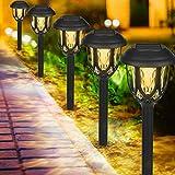 Luces Solares Jardín, IP65 LED Lamparas Solares Jardín, Energía Solar Luces Jardín Impermeable, Luz Solar Iluminación de Exterior, Luz Solar de Césped, Luces de Decoración para Pasillo, Césped, Patio