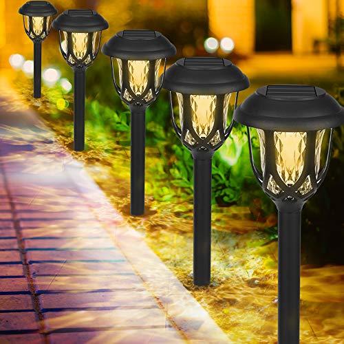 Luces Solares Jardín, 10 Pack IP65 LED Lamparas Solares Jardín, Energía Solar Luces Jardín Impermeable, Luz Solar de Exterior, Luz Solar de Césped, Luces de Decoración para Pasillo, Césped, Patio