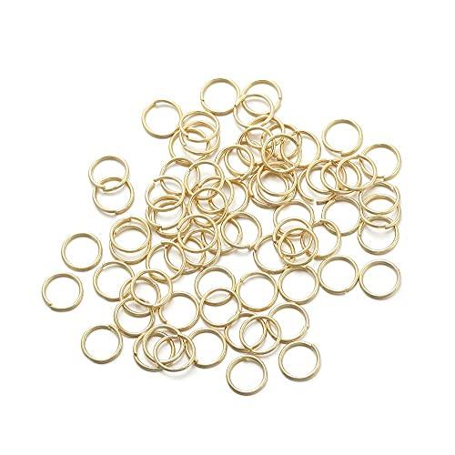 JOMOSIN QW817 50-200pcs 3-10mm Oro Anillos de Salto de Cobre de Oro Conectores de Anillos divididos para la joyería de Bricolaje Finding Fabricación de Accesorios Accesorios de joyería