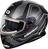 Castle X Thunder 3 SV Trace Electric Snowmobile Helmet (MED, Matte Black)