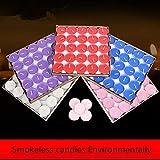 Txyk rauchfreie Kerzen Duftkerze Valentinstag Romantische Kerzen Teelichter Set für Schlafzimmer, Wohnzimmer, Büro 50 Stück rot - 5