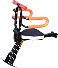 Together-life Front Mounted Child Bike Seats, Foldable & Ultralight Baby Kids' Bicycle Carrier with Handrail and Pedal for Mountain Bikes, Hybrid Bikes, Fitness Bikes