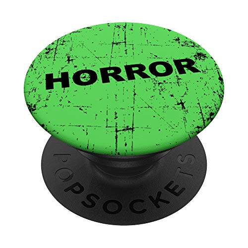 Distressed Horror Movie Green VHS Rental Gift Movie Lovers PopSockets PopGrip: Swappable Grip for Phones & Tablets