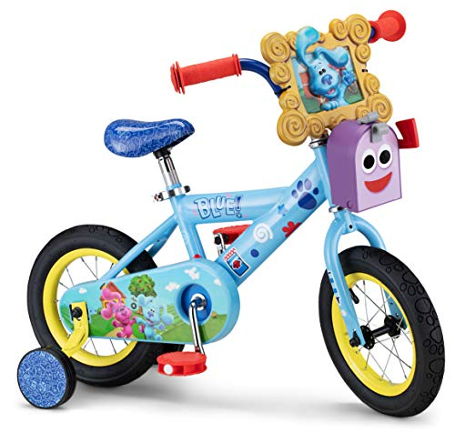 Nickelodeon Blue's Clues & You Kids Bike, 12-Inch Wheels, Ages 2-4 Year Old, Training Wheels Included, Blue
