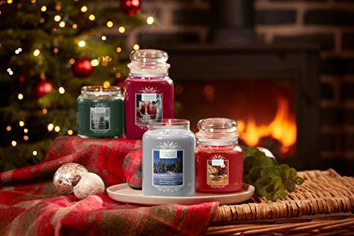 Yankee Candle Candela profumata in giara grande, Seguendo la slitta, collezione Natale in montagna, durata: fino a 150 ore