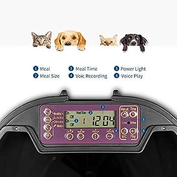 PUPPY KITTY Distributeur automatique de nourriture pour animaux de compagnie pour chats et chiens, jusqu'à 4repas par jour, avec enregistreur vocal et minuterie numérique programmable pour chat