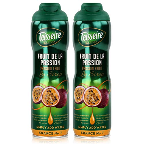 Teisseire Getränke-Sirup Passion Fruit/Passionsfrucht 600ml - Sirup der genauso schmeckt wie die Frucht (2er Pack)