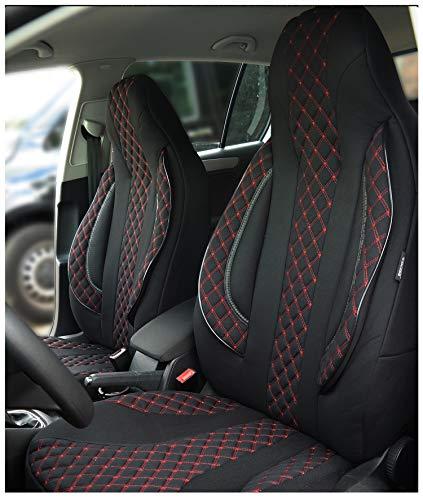 Maß Sitzbezüge kompatibel mit Seat Ibiza III 6L Fahrer & Beifahrer ab 2002-2008 Farbnummer: PL402