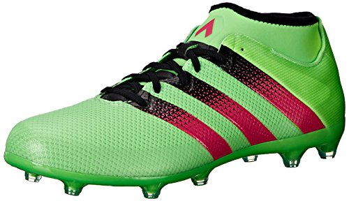 adidas Performance Men's Ace 16.2 Primemesh FG/AG Soccer Shoe,Shock Green/Shock Pink/Black,11.5 M US