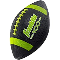 Franklin Sports Grip-Rite 100 Rubber Junior Football (Black)