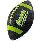 Franklin 33048C4 Jr Grip-Rite Rubber Football Black/Lime