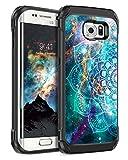BENTOBEN Case for Galaxy S7 Edge, S7 Edge Case Hybrid Dual Layers Nebula Mandala Design Hard PC Flexible TPU Cover Slim Shockproof Protective Phone Case for Samsung S7 Edge, Madala