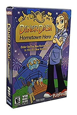 PlayFirst Diner Dash: Hometown Hero - Win & Mac CDRom - Order up Five New Restaurants in This All-New Version from PlayFirst