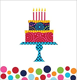Creative Converting Birthday Cake Stand Plastic Tablecover