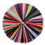 YAKA 60 Pack of 18 inch Mix Nylon Coil Zippers Bulk - Supplies Zippers for Tailor Sewing Crafts (20 Color) (18 inch-Pack of 60pcs)