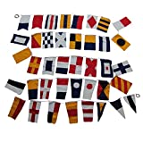 Treasure Gurus Set of 40 International Maritime Nautical Marine Signal Code Flags