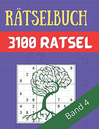 Rätselbuch - 3100 Rätsel Große Schrift Band 4: Große Puzzle-Sudoku-Bücher mit mehreren Puzzles - mittel bis extrem schwer - für Jugendliche, Erwachsene und Senioren mit Lösungen