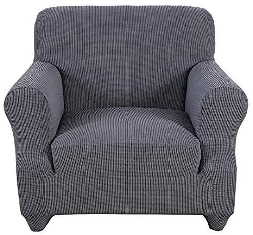 ZINE Funda elástica de licra para sofá para sala de estar, funda antideslizante de una pieza con parte inferior elástica, protector de muebles para perros, gatos, mascotas y niños