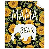 Sunflower Mama Bear Never Forget That I Love You Blanket Lightweight Flannel Fleece Healing Throw Blankets Cozy Plush Microfiber All-Season Blanket for Bed/Couch/Sofa - Toddler 50x40 Inch S