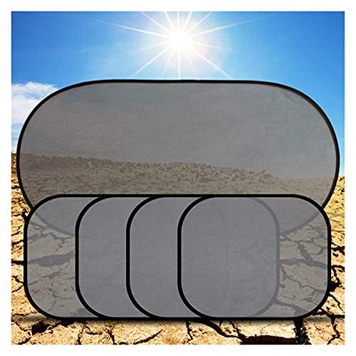 XIAOFANG 5 unids Cubierta de Coches sombrilla 3D fotocatalyst Malla Sol Visera Ventana Ventana de la Ventana de sombrilla Cortina de Coche Coche Interior Producto con Dos lechones