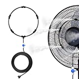Dr. Prepare Outdoor Misting Fan Kit, Mister Fan, Water Misters for Cooling Patios, Portable Misting System for Mist Fan, Independent Valve for Water Control, 16.4ft Mist hose for Patio Backyard