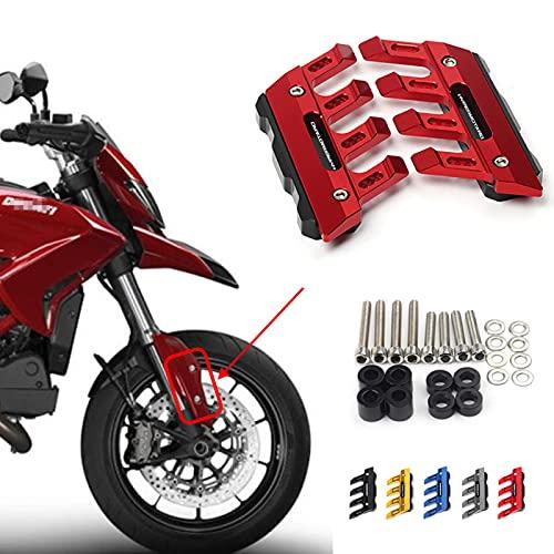 ZMMWDE Accessori CNC per moto Parafango Protezione laterale Parafango anteriore Slider,Per Ducati HYPERMOTARD 950939 821 796 1100 EVO (SP) Rosso