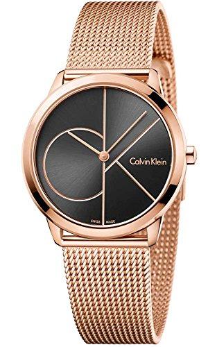 Calvin Klein Damen Analog Quarz Uhr mit Edelstahl Armband K3M22621