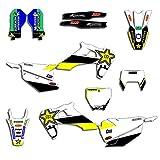 Pegatinas de Motocross Antecedentes del Equipo de la Motocicleta Gráficos Kit Sticker Decal for Husqvarna 125 250 350 450 TC FC TX FX FS 2019 2020 2020 FE TE