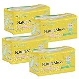 ナチュラムーン(NaturaMoon) 生理用ナプキン 多い日の昼用 (羽なし) 高分子吸収剤不使用 ノンポリマー 18個入 4パックセット【医薬部外品】