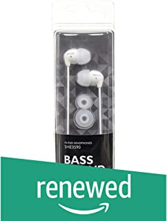 (Renewed) Philips SHE3590WT/98 in-Ear Headphones (White)