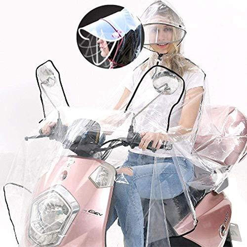 Shade Cloth Regencape Kinder Electric Vehicle Transparent Raincoat Erwachsene Männer und Frauen verfügbar Mode Fahrrad-Motorrad-Poncho mit Doppel-Hut - Elektro-Fahrrad Raincoat SLZFLSSHPK
