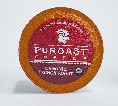 Puroast Low Acid Coffee Single Serve compatible with Keurig 2.0 Brewers, Organic French Roast (Caffeinated), 72 Count