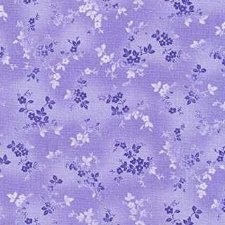Woodside Blossom~Tonal/Purple Floral Cotton Fabric by Robert Kaufman