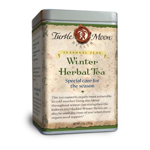 Winter Herbal Tea Blend: Loose-Leaf, Organic & Wildcrafted, Healing and Medicinal, 4 oz. Tin.