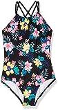 Kanu Surf Girls' Jasmine Beach Sport Halter One Piece Swimsuit, Brooke Black, 2T