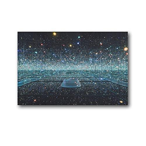 EMIP Yayoi Kusama Infinity Espejo Habitación The Souls Pintura sobre lienzo Arte de la pared Póster de la pared de la sala de estar, decoración de las paredes del hogar, 30 x 45 cm