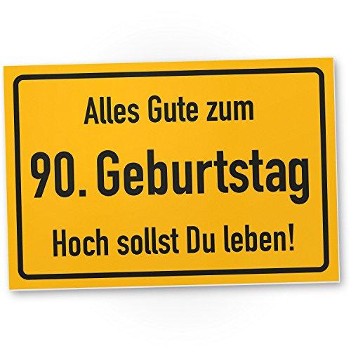 DankeDir! 90. Geburtstag Stadtschild - Kunststoff Schild, Geschenk 90. Geburtstag, Geschenkidee Geburtstagsgeschenk Neunzigsten, Geburtstagsdeko/Partydeko/Party Zubehör/Geburtstagskarte