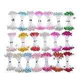CCINEE 16colores mezclados 3mm Pearl estambre para decoración (Classic),...