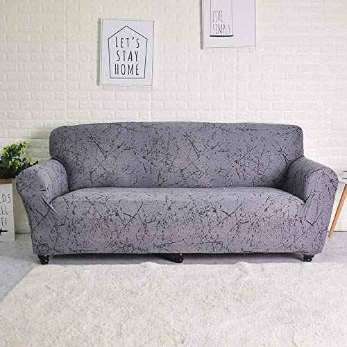 ASCV Sofabezug Elastic für Wohnzimmer Spandex Sofabezug für Eckcouch Sessel Schonbezug A8 1-Sitzer