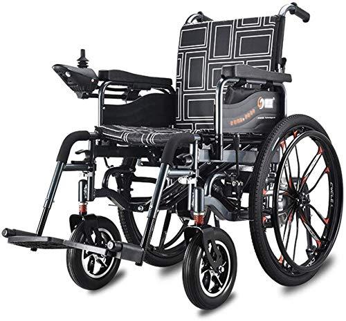 Silla de ruedas eléctrica plegable Doblar Deluxe Silla de ruedas eléctrica for los ancianos discapacitados motorizado silla ligera plegable plegable de la energía Carry Vespa, Anchura del asiento 46 c