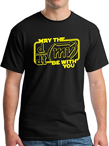 EndearingTees May The Force Be With You T-Shirt Funny Physics/Science T-Shirt Black XL