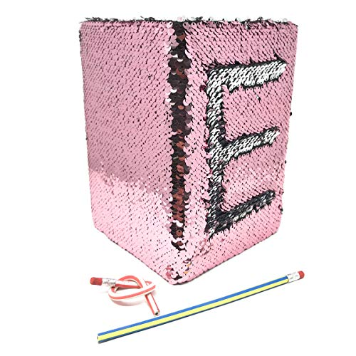 cool nik Mermaid Magic Sequin Journal Two-color Reversible Sequin Diary Notebook With 2 Pcs Magic Soft Pencils(Pink/Silver)