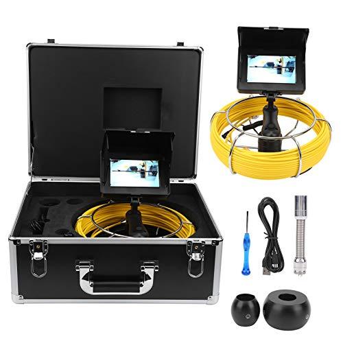 Jeanoko Kanal Videokamera Kamera Sonde Rohrkamera Kanalinspektionskamera Sonnenblende Drain Pipe Kamera zur Rohrinspektion mit Einer Aufbewahrungsbox(F5P17-20M)