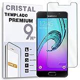 REY Protector de Pantalla para Samsung Galaxy A3 Cristal Vidrio Templado Premium